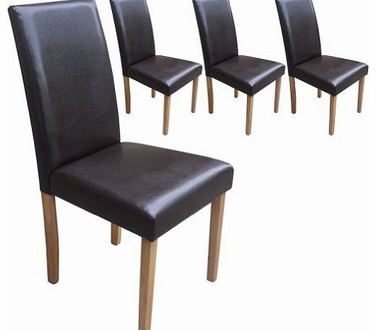 brown leather dining chair : your price furniture set of 4 brown leather look contemporary dining chairs from www.comparestoreprices.co.uk size 530 x 465 jpeg 23kB