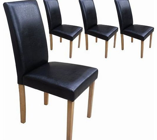 leather dining chair your price furniture set of 4 faux  : your price furniture set of 4 faux leather dining chairs black with padded seat and  from www.comparestoreprices.co.uk size 532 x 475 jpeg 23kB