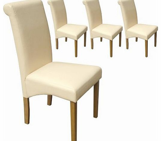 leather dining chair your price furniture set of 4 faux  : your price furniture set of 4 faux leather scroll top dining chairs cream with padded from www.comparestoreprices.co.uk size 536 x 470 jpeg 18kB