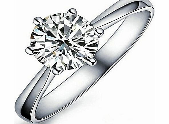 Yoursfs 1.5Ct Simulated Diamond Womens Wedding Ring 18K White Gold Plated (R)