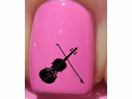 Violin Silhouette - Nail Decals by YRNails