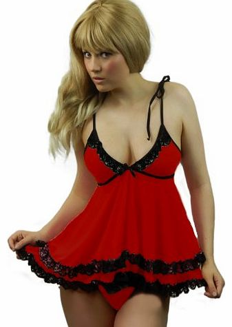 6ae000beb Sexy Lingerie Babydoll Dress Lace Stockings Plus Size 6 8 10 12 14 16 18  20. Yummy Bee ...