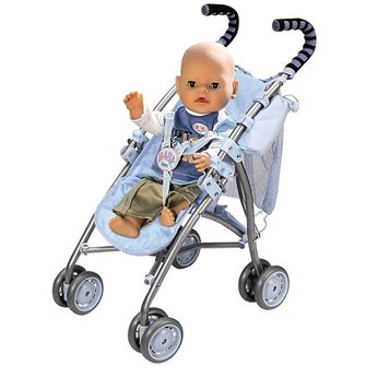 Baby Born Boy Doll Stroller