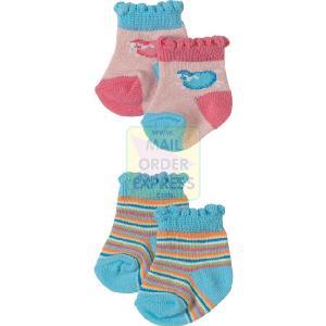 zapf creation baby annabell blue striped socks zapf creation baby