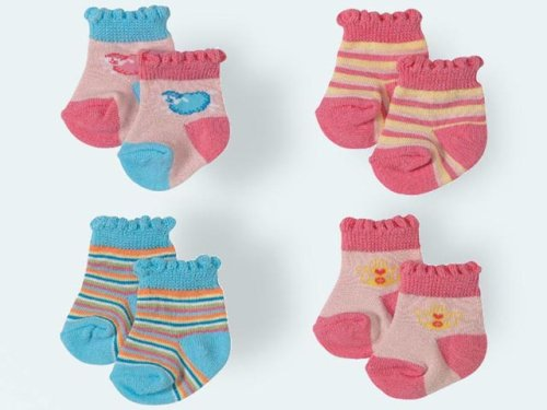 Baby Annabell Socks (2 pairs) (762998) - Ivory and Blue