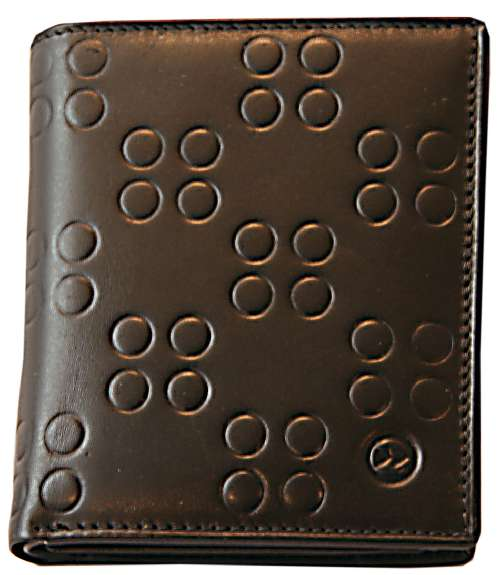 Zoom Black Circle Pattern Leather Coin Wallet by product image